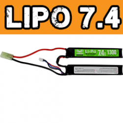 Battery - V Energy LiPo 7.4V 1300mAh 20C 2 Split