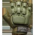V-TAC Half Finger Plastic Back Gloves OD