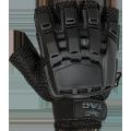 V-TAC Half Finger Plastic Back Gloves Black